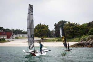 Inflatable sailboat Tiwal and Epho