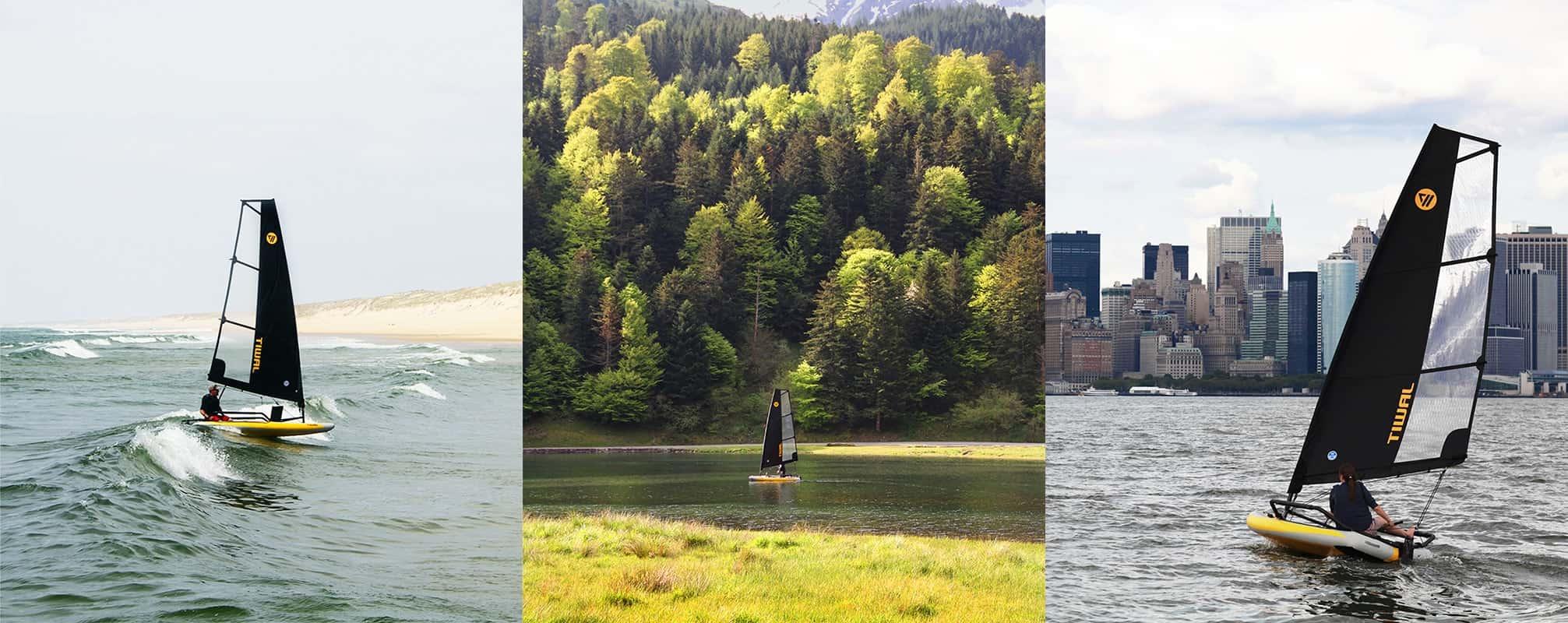 navigation deriveur tiwal mer lac ville