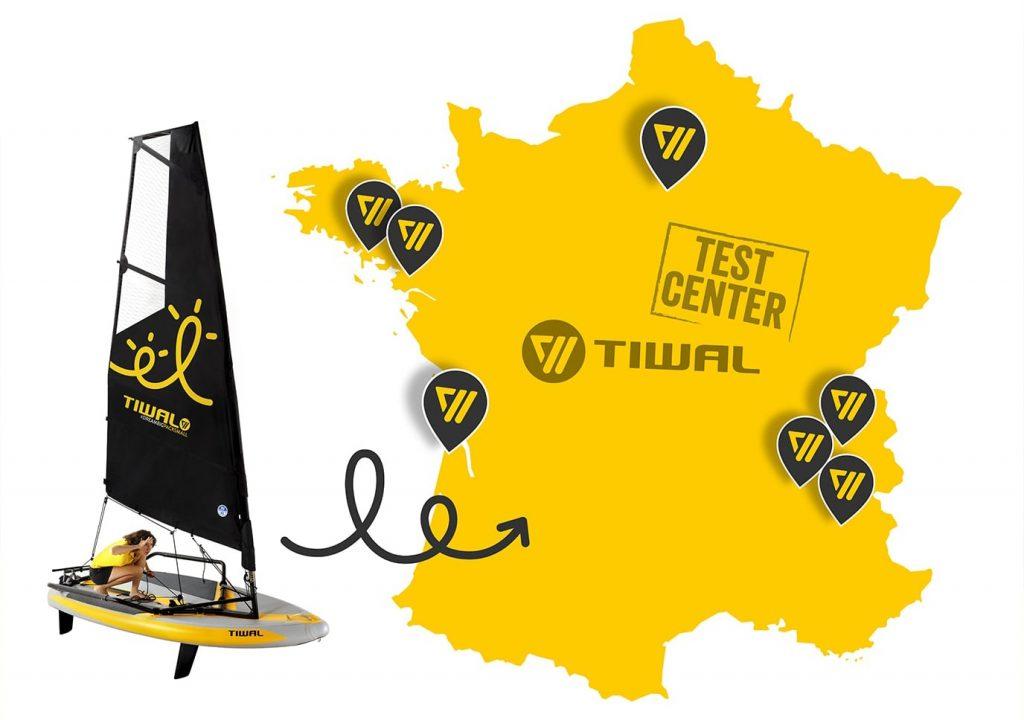 Carte test center Tiwal