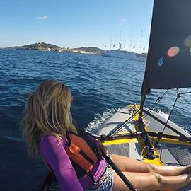 Un Tiwal sur le Superyacht Club Med 2