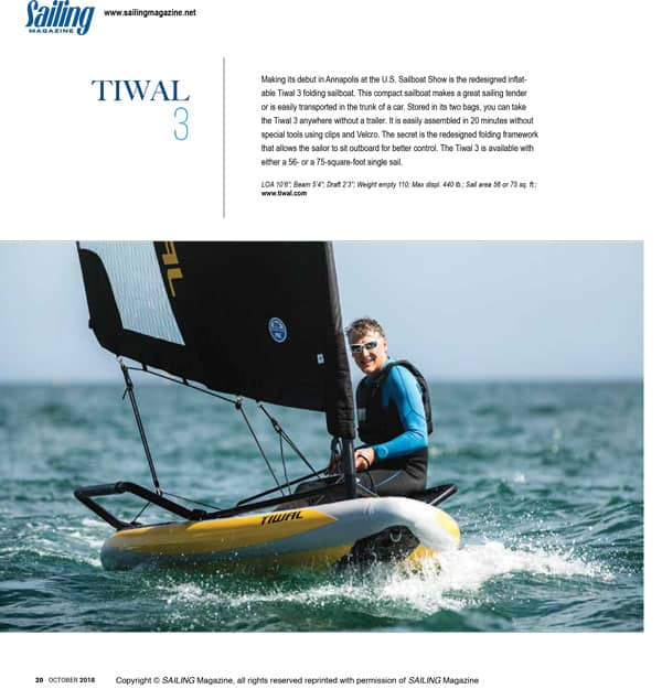 tiwal inflatable sailing magazine