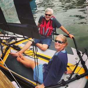 Navigation en couple sur un dériveur gonflable Tiwal 3
