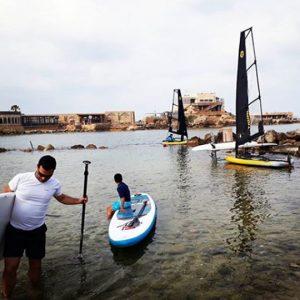 Tiwal 3 inflatable sailboats in Israel