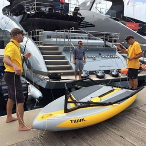 Tiwal 3 sailboat as a superyacht watertoy
