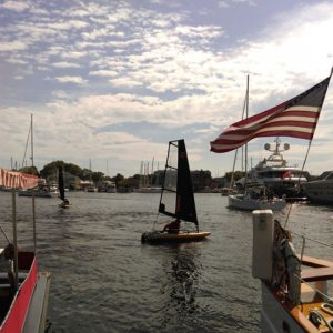Tiwal test at the Annapolis US Sailboat Show