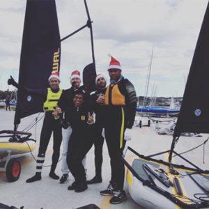 Sailing Tiwal 3 before Christmas