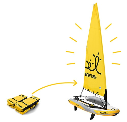 Tiwal 2 inflatable sailboat