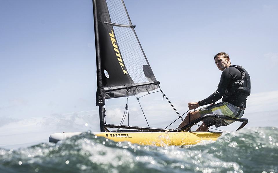 Small inflatable sailboat Tiwal 3