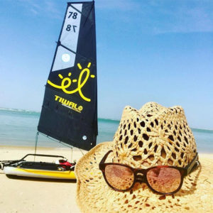 Holiday with a inflatable sailboat TIwal 3 in Senegal