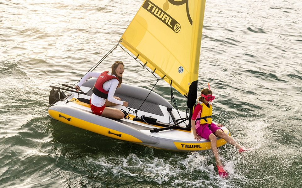 Inflatable sailing dinghy Tiwal 2