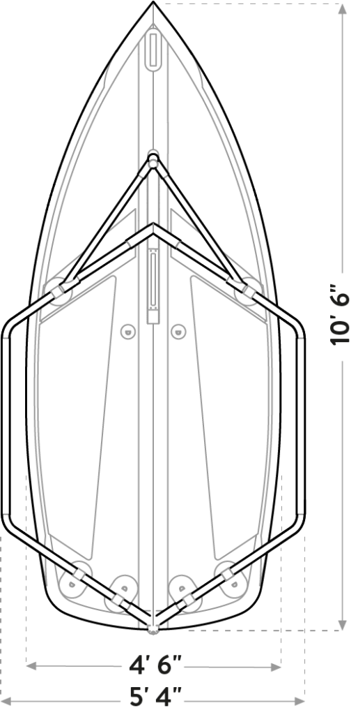Tiwal 3 sailboat hull dimensions