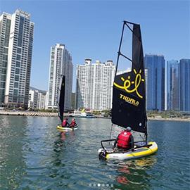 Tiwal Sailing dinghy sails in Korea