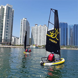 Tiwal Sailing dinghy sails in Korea