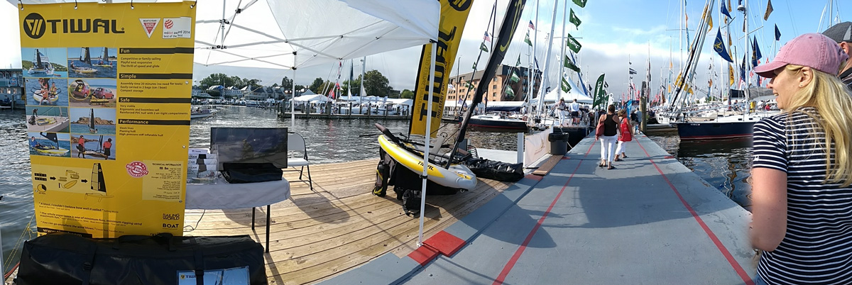 Try the Tiwal 3 inflatable small boat at the Annapolis Boat Show in Maryland