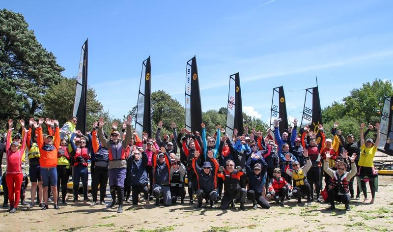 Tiwal cup participants jumping