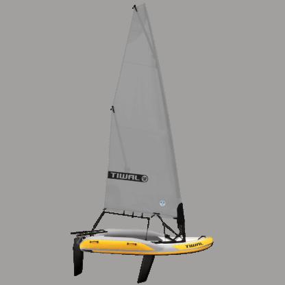 Tiwal2 Segelboot mit grau rollbares Segel