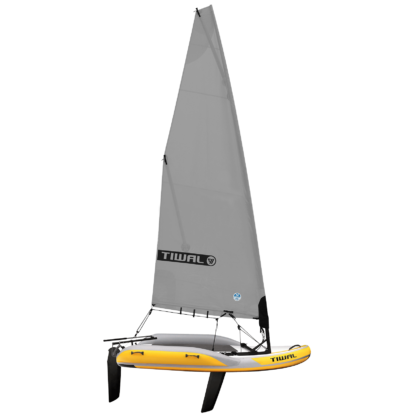 Tiwal 2 Inflatable Sailing Dinghy Grey Furling Sail