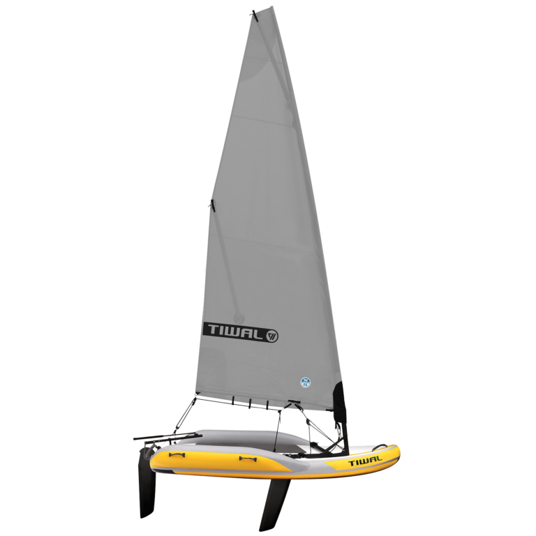 Tiwal 2 Inflatable Sailing Dinghy Grey Furling Sail