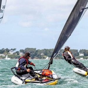 Segeln am Wind mit Jolle Segelboot
