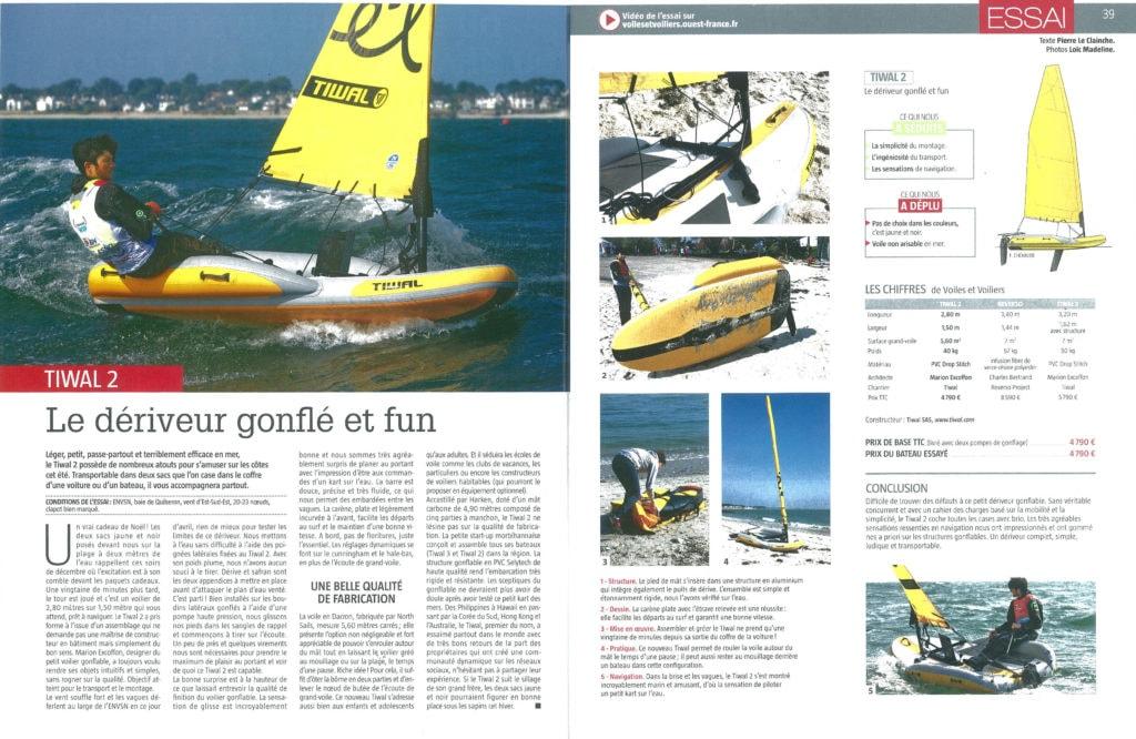 Essai du petit voilier Tiwal 2 par le magazine Voiles et Voiliers