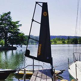 Tiwal 3 at the dock, at Lake Tokuura
