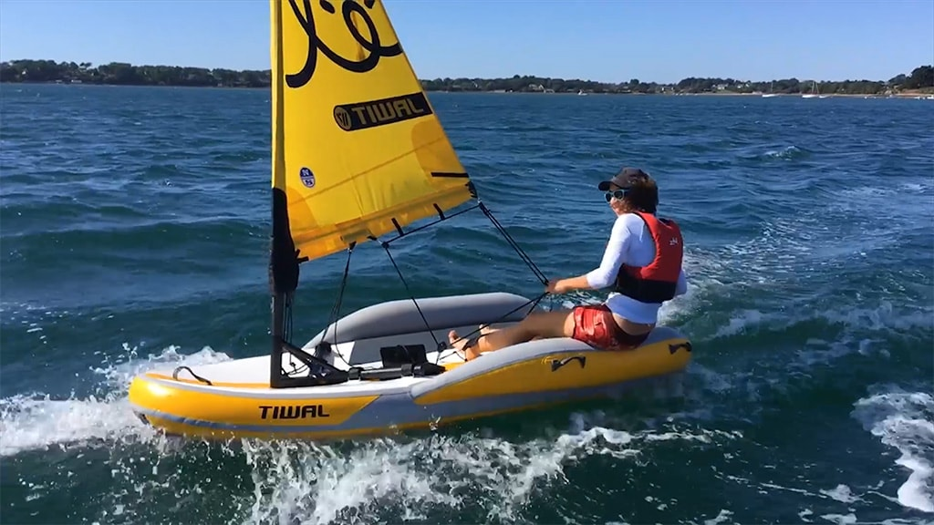 Tiwal 2 Inflatable sailing dinghy