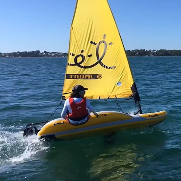 Tiwal 2 sailing dinghy poster square