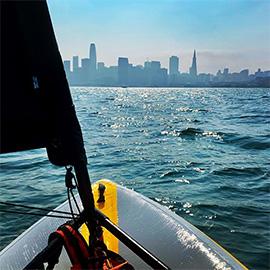 Navigation calme à San Francisco