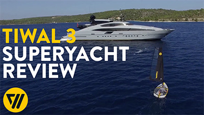 Interview Grey Matters Superyackt skipper - Tiwal 3 sailing dinghy onboard