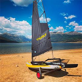 Sailing Tiwla on altitude lake