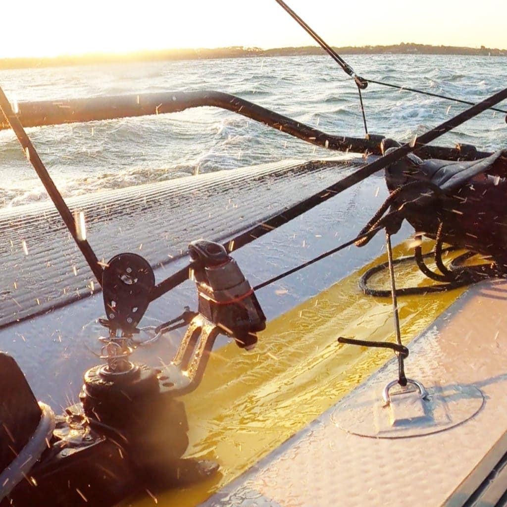 Mainsheet Swivel Jammer base - sailing conditions
