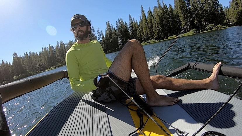 Ryan sailin on a lake poster