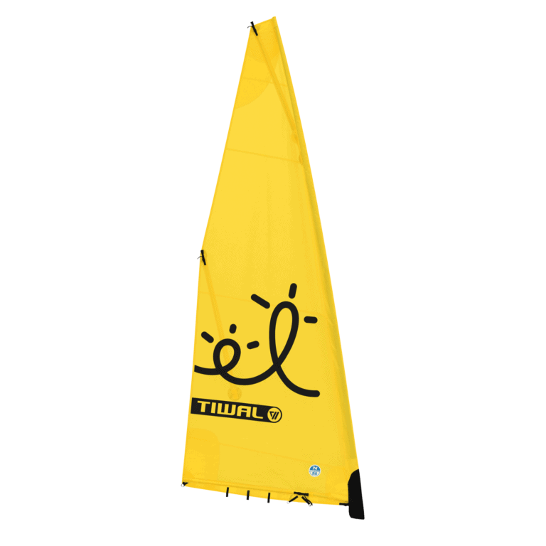 60 ft² yelllow furling sail for Tiwal 2 inflatable sailboat