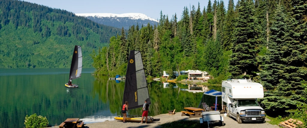 Tiwal inflatable sailboats on a Canadian lake