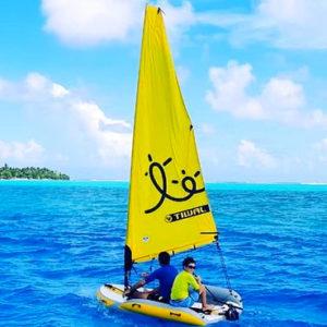 Sailing a Tiwal 2 in Mauputi
